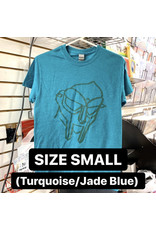 MF Doom T-Shirt (Turquoise/Jade Blue) (SMALL)