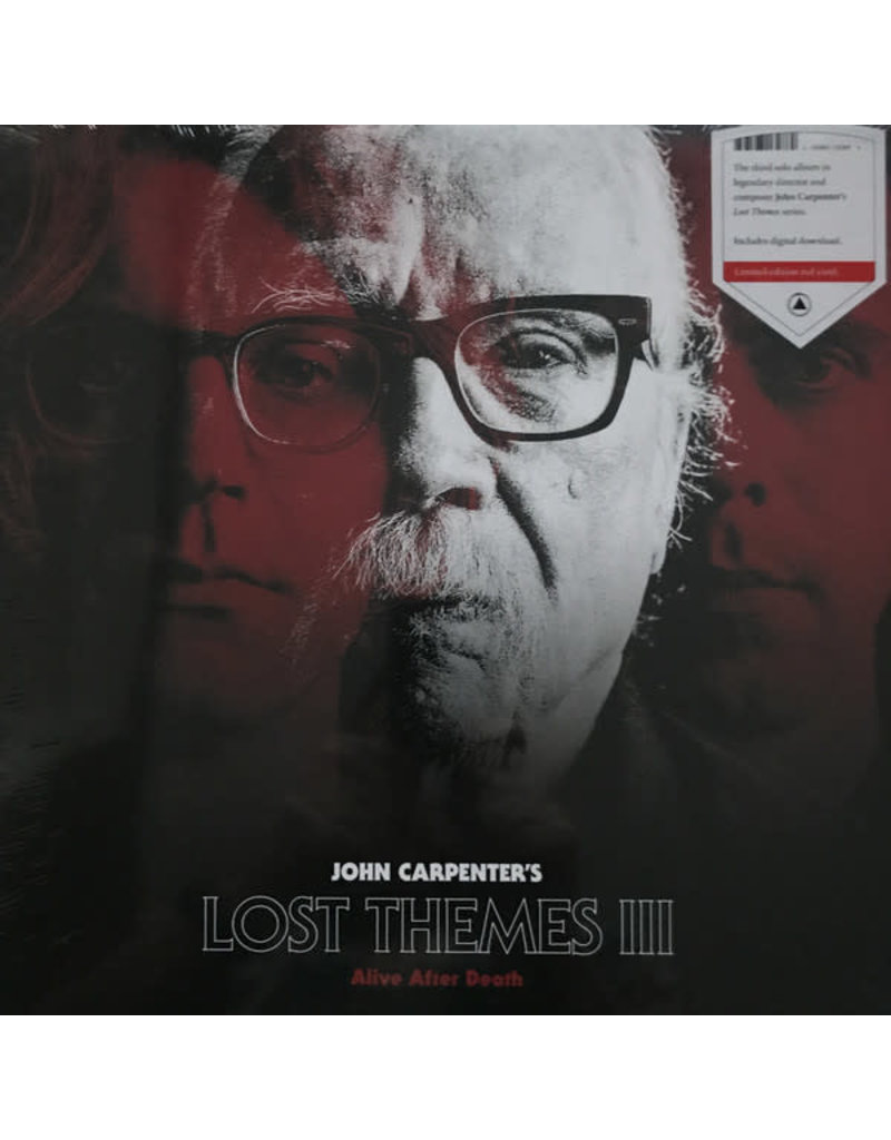 John Carpenter – Lost Themes III: Alive After Death LP (2021), Limited Edition, Red Vinyl