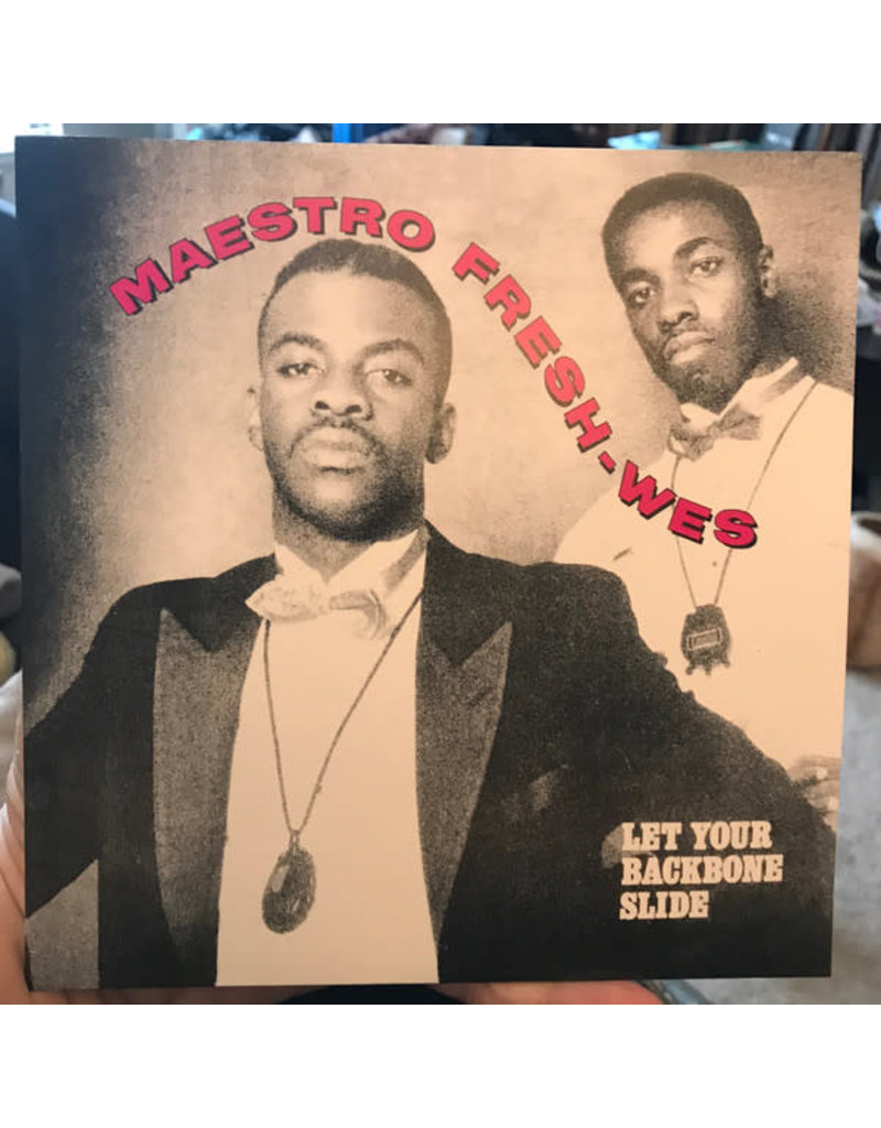 """Maestro Fresh-Wes – Let Your Backbone Slide / I'm Showin' You 7"""" (2020 Reissue), Limited Edition"""