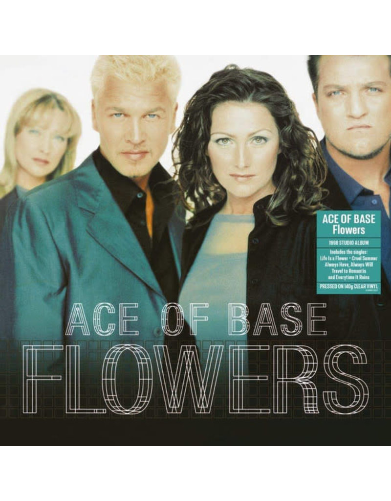 Ace Of Base ‎– Flowers LP (2020 Reissue), 140g Clear Vinyl