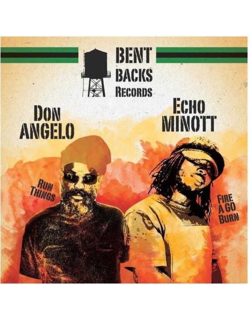 "RG Echo Minott - Fire A Go Burn (Extended Mix) / Don Angelo - Run Things 12"" (2015)"