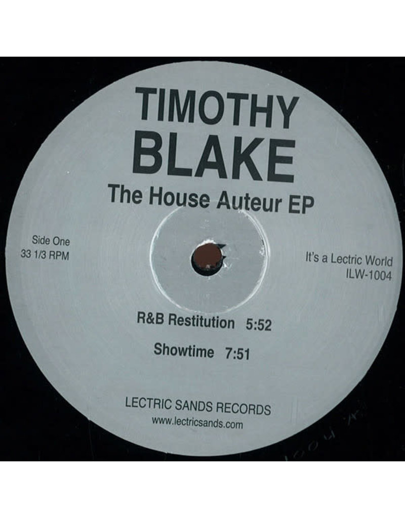 "HS Timothy Blake – The House Auteur EP 12"" (2015)"