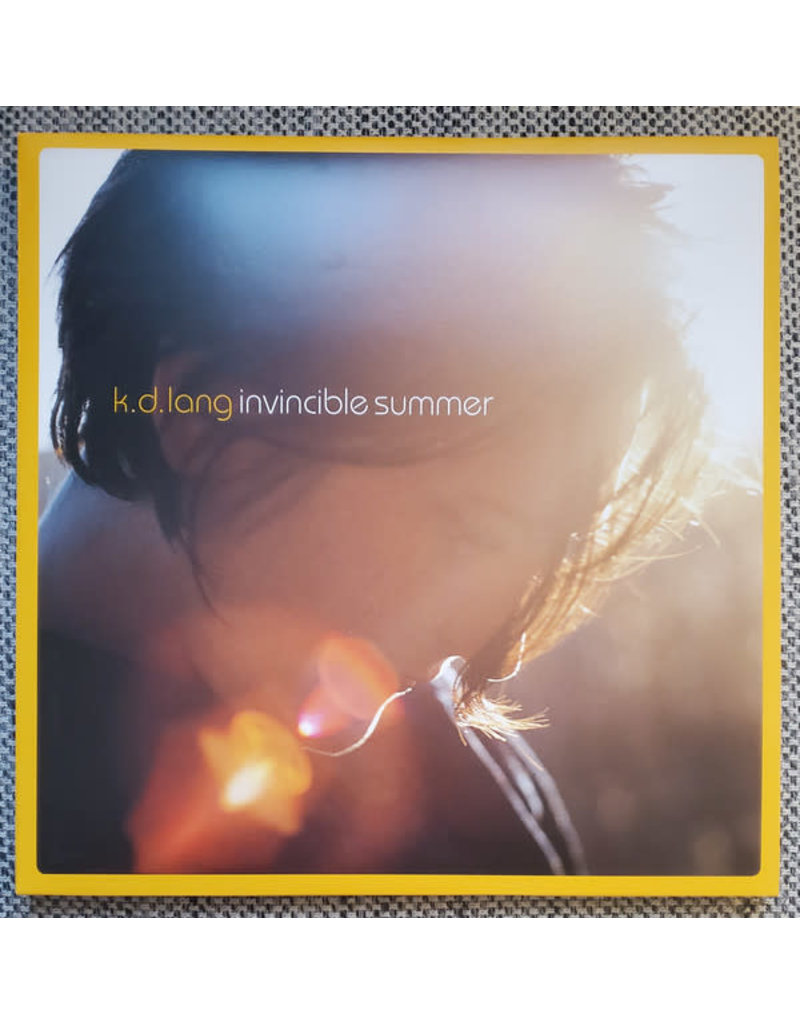 k.d. lang (Kathryn Dawn Lang) – Invincible Summer LP (2021), 20th Anniversary, Limited Edition, Reissue, Yellow/Orange Swirl