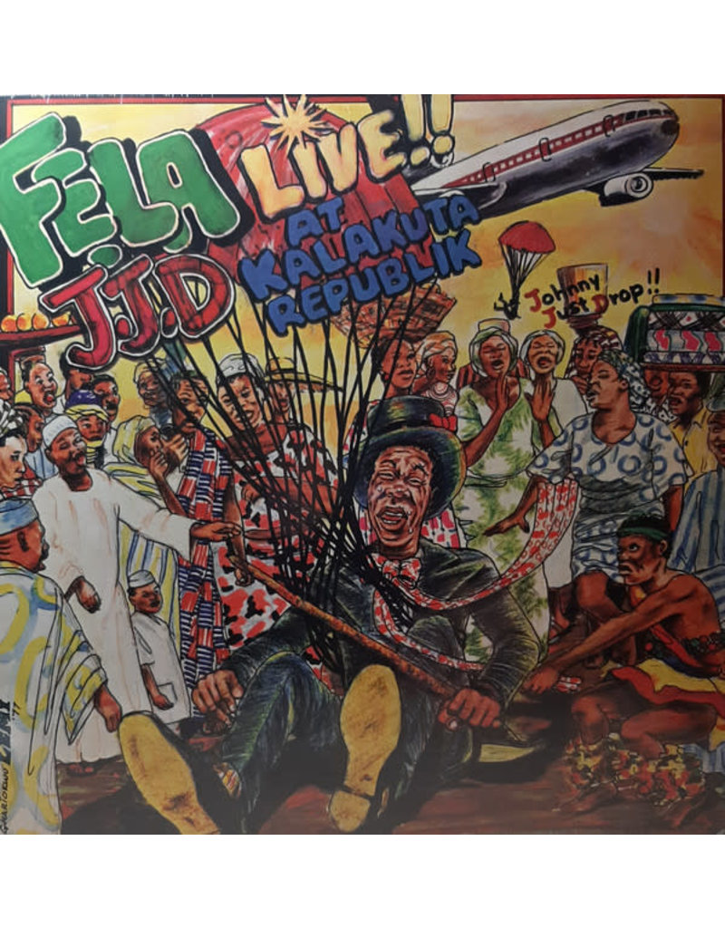 Fela Aníkúlápó Kuti And Afrika 70 ‎– J.J.D (Johnny Just Drop!!) - Live!! At Kalakuta Republik LP (2019 Reissue)