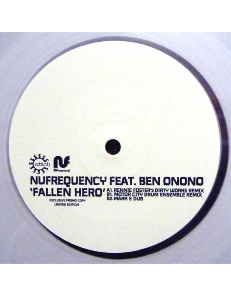 """HS NUfrequency Feat. Ben Onono – Fallen Hero 12"""" (2015), Clear vinyl"""
