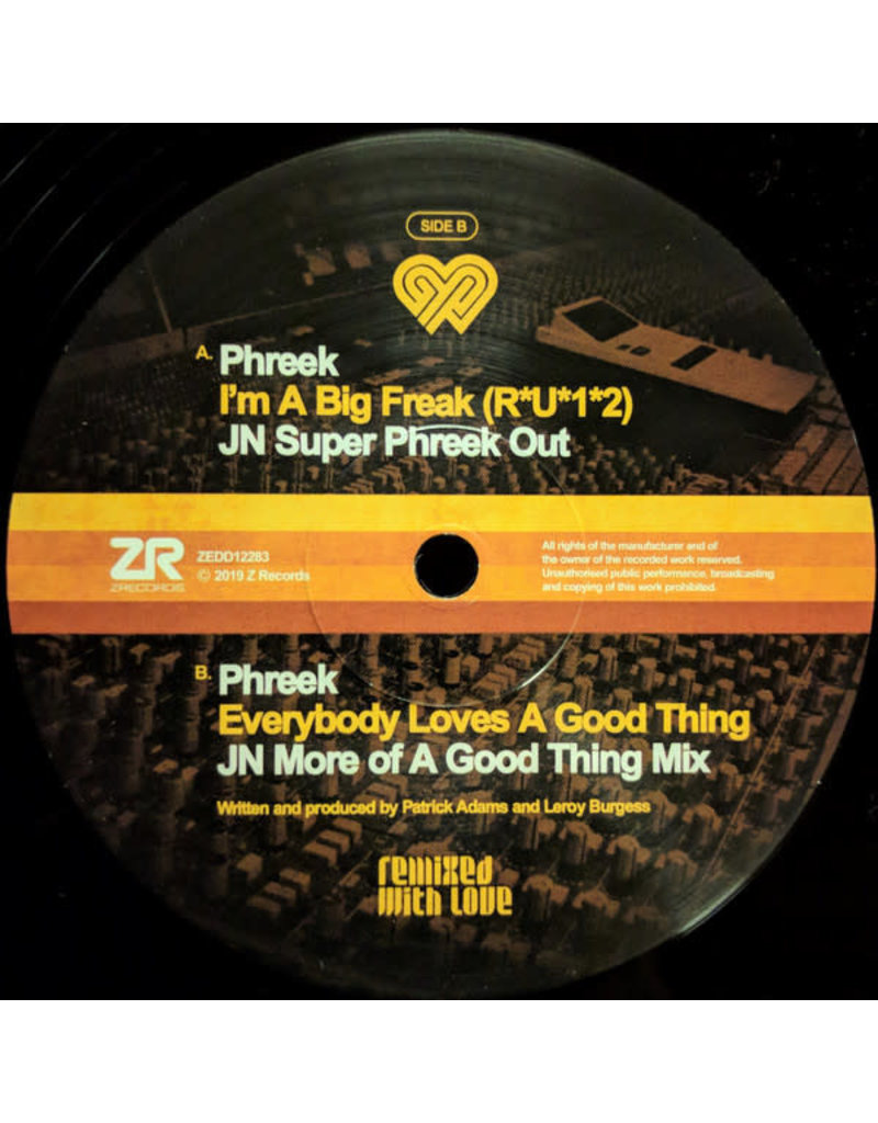 """Phreek – Remixed With Love By Joey Negro 12"""""""
