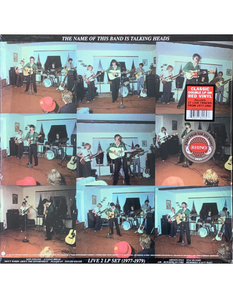 Talking Heads – The Name Of This Band Is Talking Heads 2LP (2021 Reissue), Limited 4500, Red Opaque