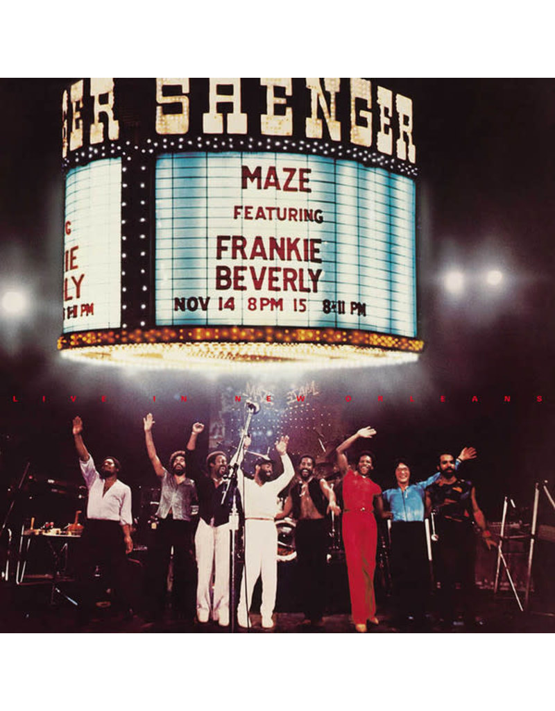 Maze Featuring Frankie Beverly – Live in New Orleans 2LP (2021 Reissue), 40th Anniversary