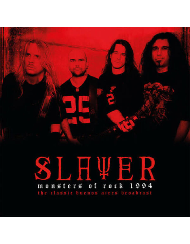 Slayer - Monsters Of Rock 1994 - The Classic Buenos Aires Broadcast 2LP, Clear Vinyl