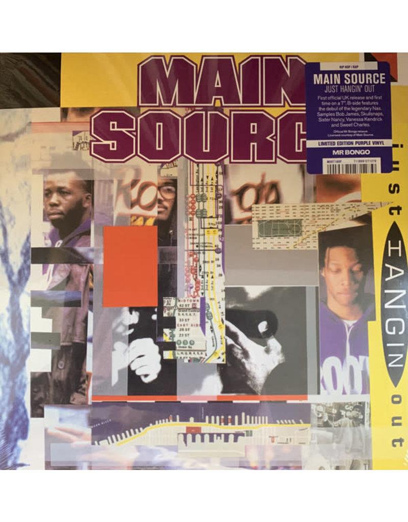 "Main Source - Just Hangin' Out 7"" (2021), Limited Purple Vinyl, Mr Bongo"