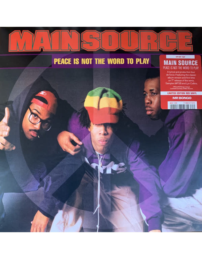 """Main Source - Peace Is Not The Word To Play 7"""" (2021)"""