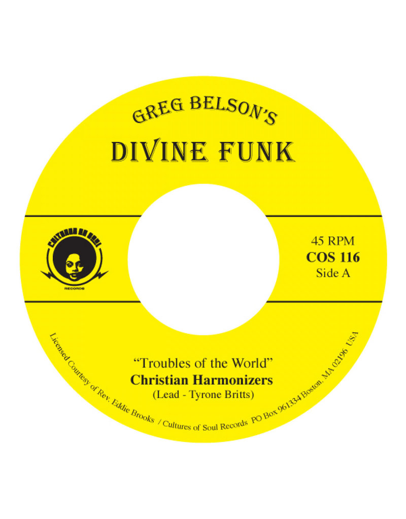 """Christian Harmonizers / Gospel Travelers: Troubles Of The World / Jesus Is Watching You 7"""""""