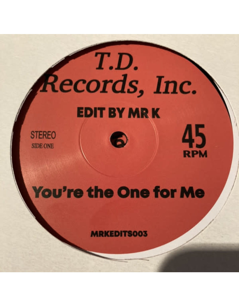 """D-Train / Theo Vaness - You're The One For Me / Sentimentally It's You (Mr K) 12"""" (2021)"""