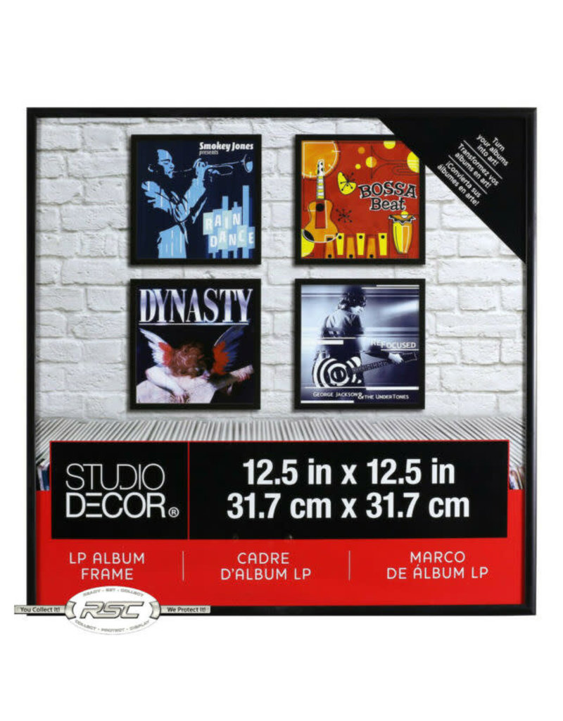 NA STUDIO DECOR RECORD FRAME GLASS