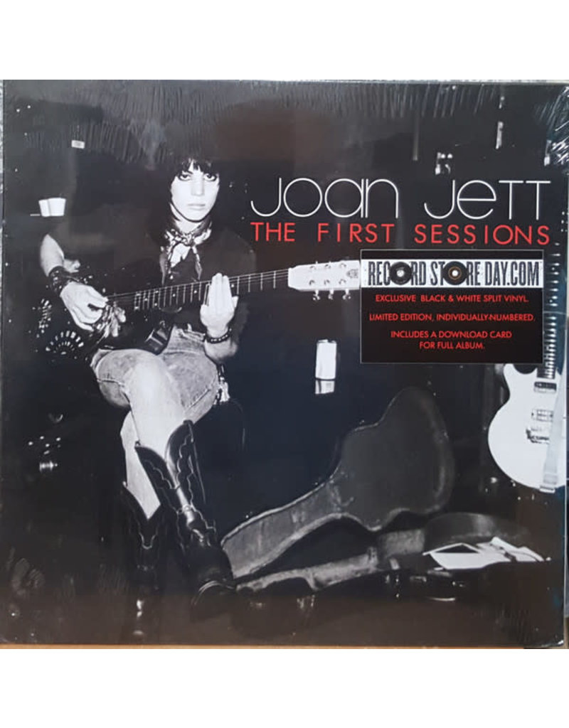 """RK Joan Jett - The First Sessions 12"""" (2015), Black and White Split"""