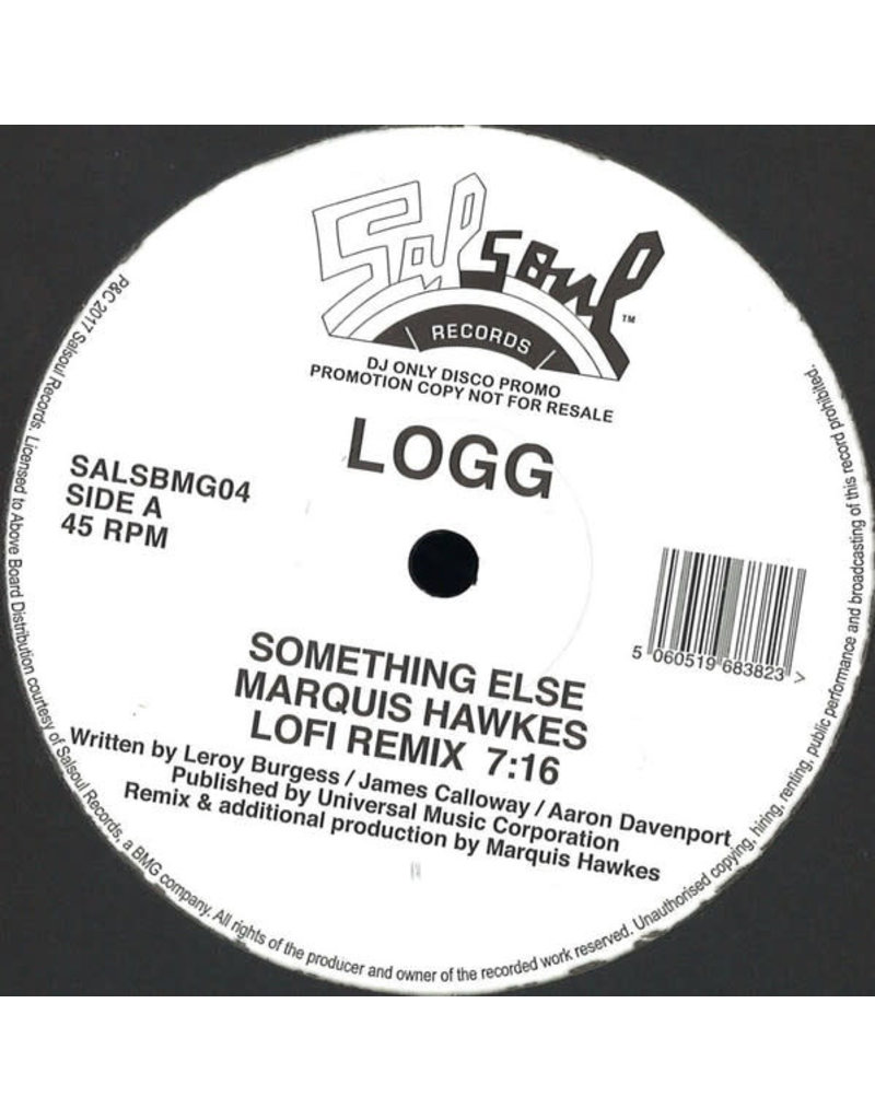"HS Logg - Something Else / I Know You Will  feat. Marquis Hawkes 12"" (2017)"