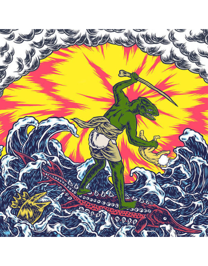 King Gizzard And The Lizard Wizard - Teenage Gizzard LP (2021), Limited, Pink Splatter On Yellow