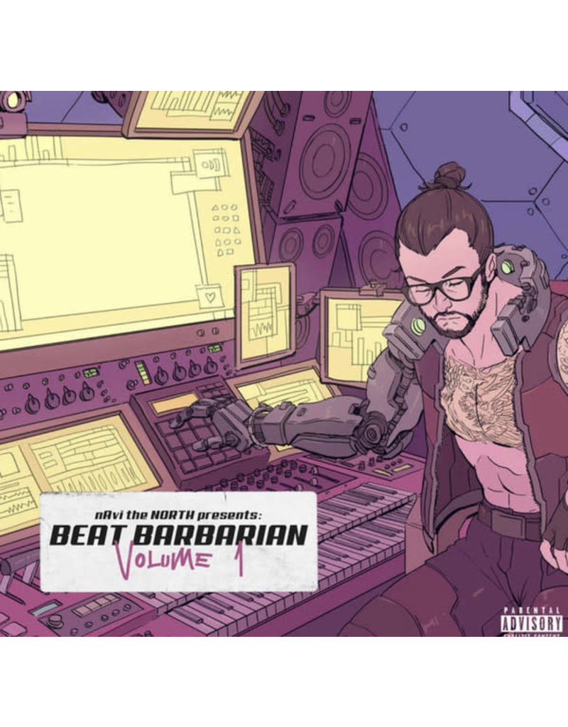 nAvi the NORTH - Beat Barbarian Volume 1 LP (2021), Clear Splatter Colour Vinyl