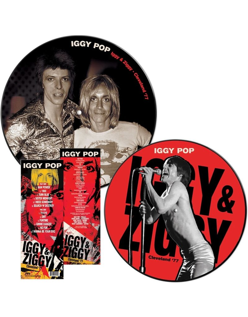Iggy Pop & Ziggy (David Bowie) - Cleveland '77 LP, Picture Disc (2021 Reissue)