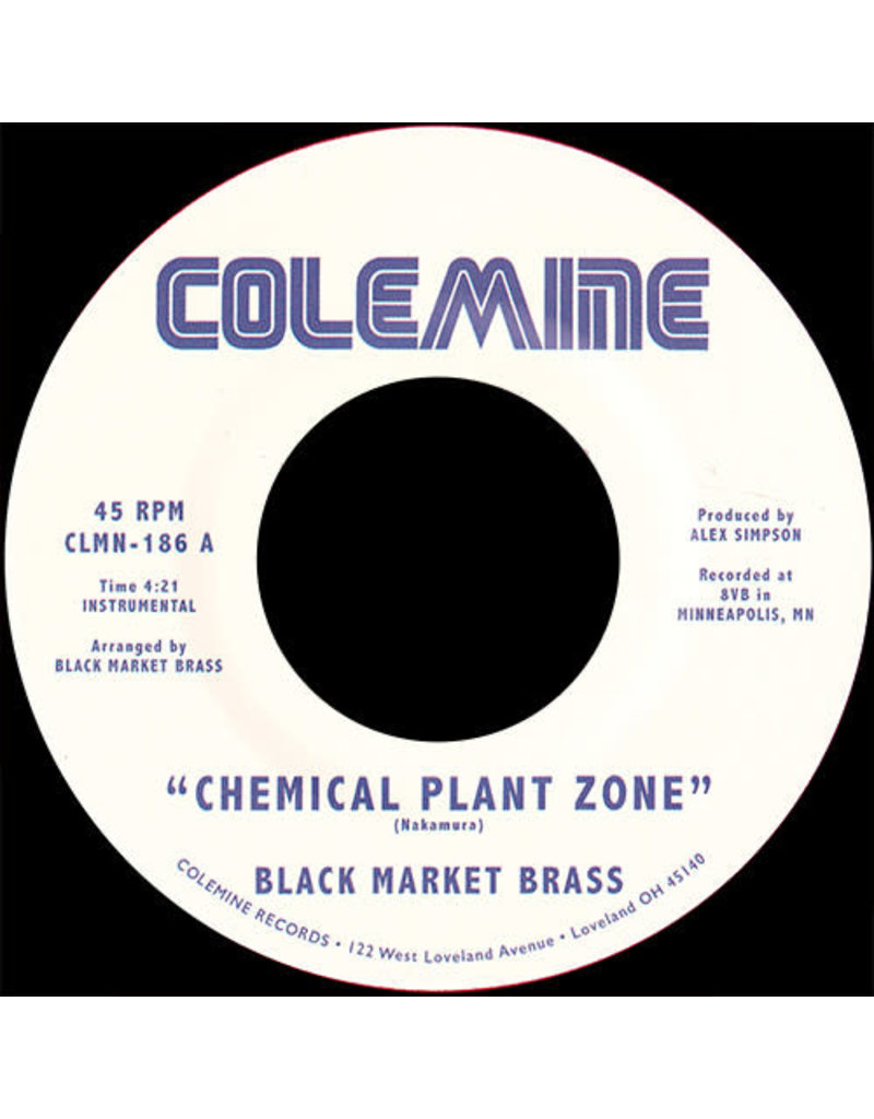 """Black Market Brass - Chemical Plant Zone / Sagat Theme 7"""" (2021), Red Opaque"""