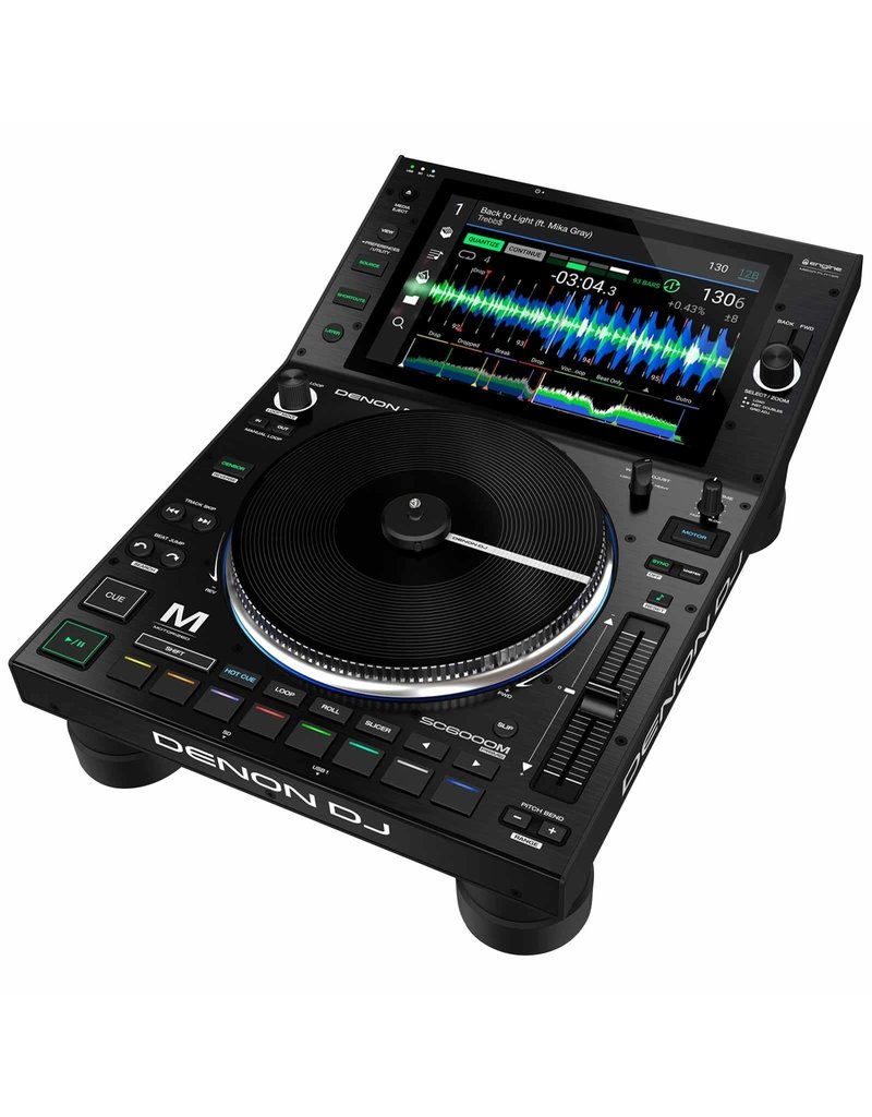 """DENON SC6000M PRIME Professional DJ Media Player with 8.5"""" Motorized Platter and 10.1"""" Touchscreen"""