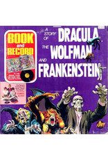 (VINTAGE) Power Records – A Story Of Dracula, The Wolfman, And Frankenstein [VG+] (1975, US)