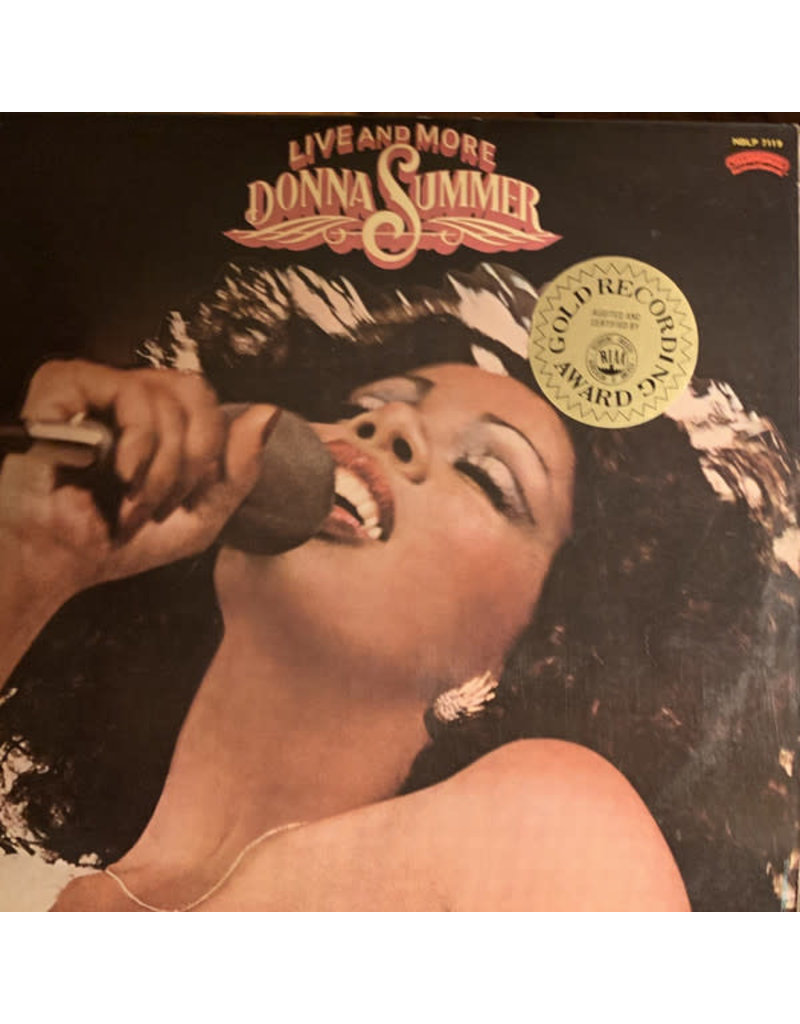 (VINTAGE) Donna Summer - Live and More 2LP [VG+] (1978, Hong Kong), w/ Chinese Hype Sticker