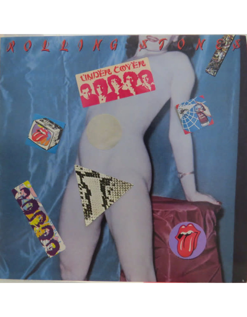 (VINTAGE) The Rolling Stones - Undercover LP [NM] (1983, Canada), Peel-out Sticker, w/ Inner Sleeve
