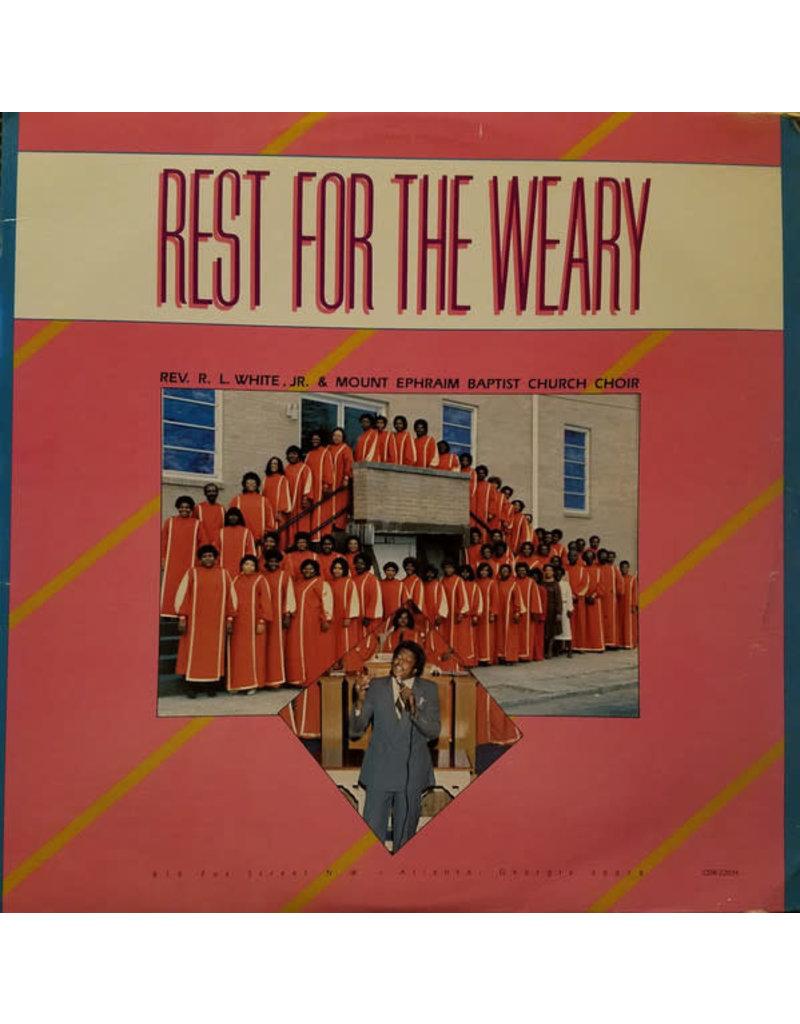 (VINTAGE) Rev. R.L. White Jr.*, Mount Ephraim Baptist Church Choir - Rest For The Weary LP [Sleeve:VG,Disc:NM] (1985,US)