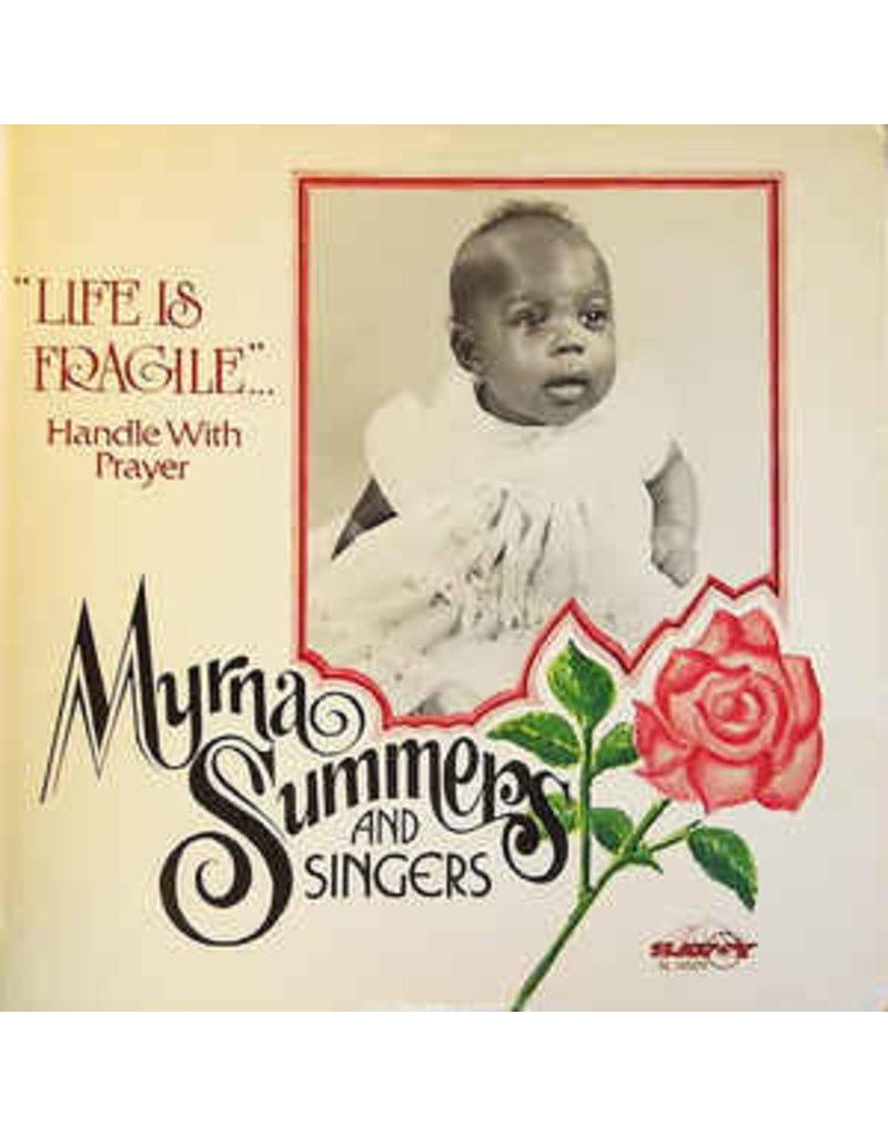 (VINTAGE) Myrna Summers And Singers - Life Is Fragile... Handle With Prayer LP [SEALED, MINT] (1980,US), Corner Cut