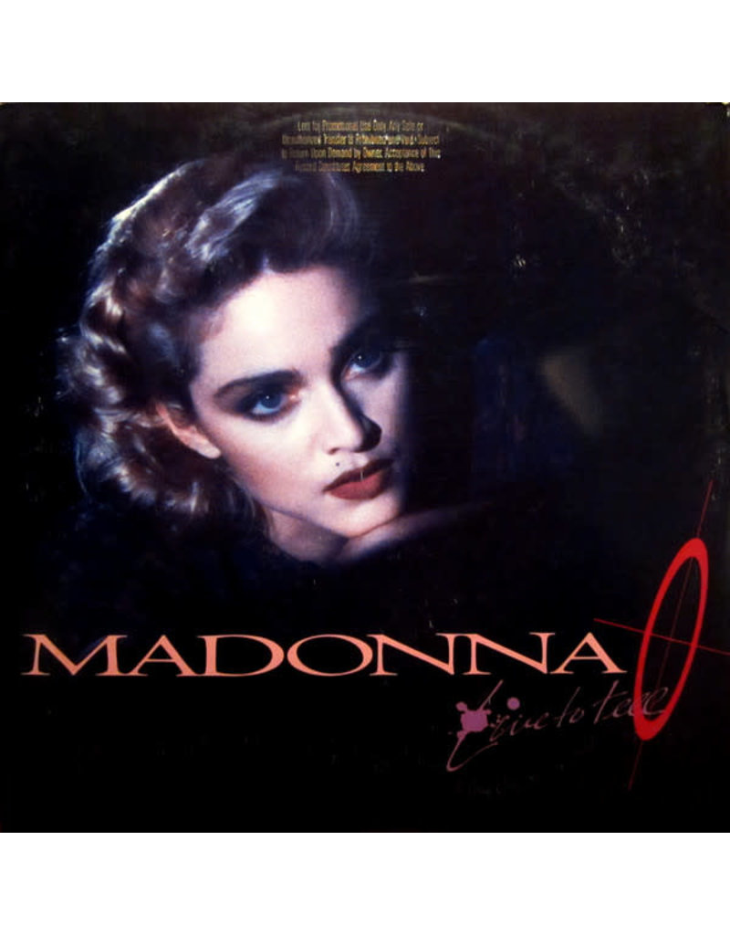 """(VINTAGE) Madonna - Live To Tell 12""""[Sleeve:VG,Disc:VG+] (1986, US)"""