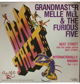 "(VINTAGE) Grandmaster Melle Mel & The Furious Five - Beat Street / Internationally Known 12"" [Sleeve:VG+,Disc:NM] (1984,US)"