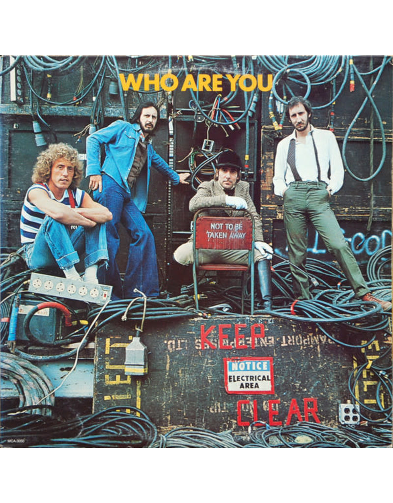(VINTAGE) The Who - Who Are You LP [NM] (1978, Canada), RED Vinyl