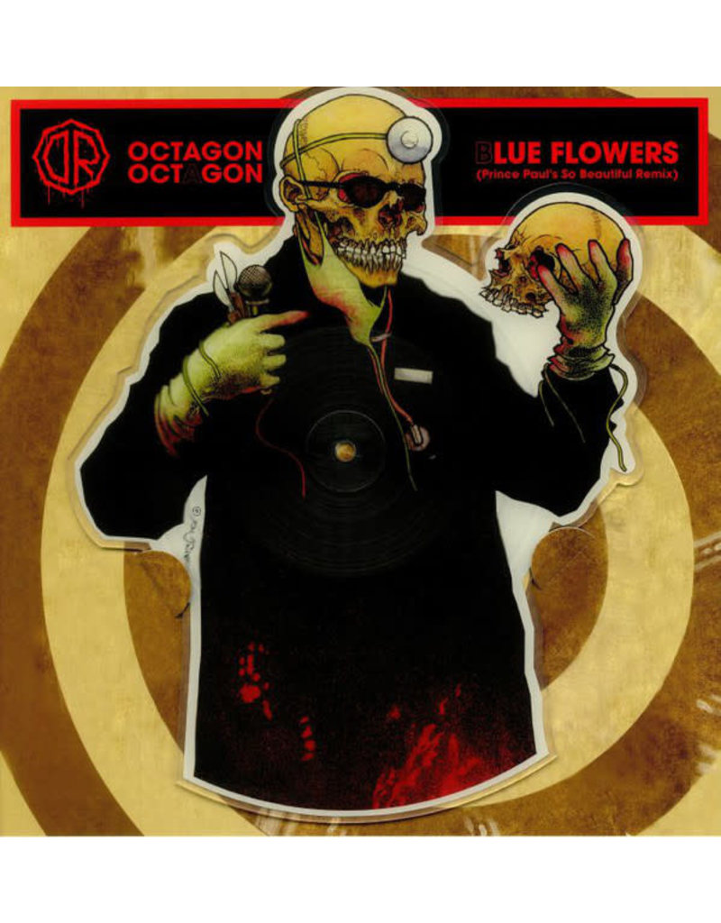 """Dr. Octagon - Octagon Octagon / Blue Flowers 12"""" (Shaped Picture Disc) (2018 Get On Down)"""