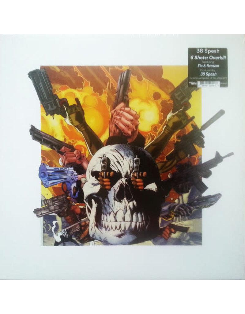 "38 Spesh - 6 Shots: Overkill EP 12"" (2020), Limited Edition, Blue, White & Orange 3-Striped"