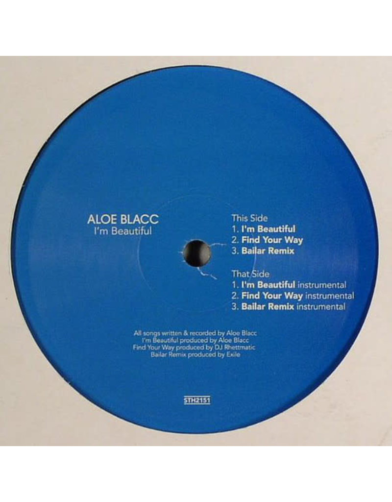 "(VINTAGE) Aloe Blacc - I'm Beautiful (Stones Throw Record) 12"" [SEALED, MINT] (2006,US)"