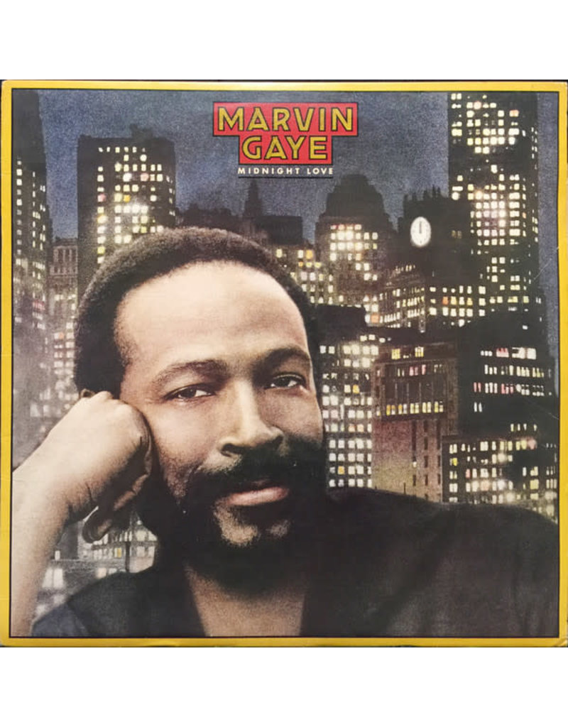 (VINTAGE) Marvin Gaye - Midnight Love LP [Cover:VG,Disc:VG+] (1982, Canada)