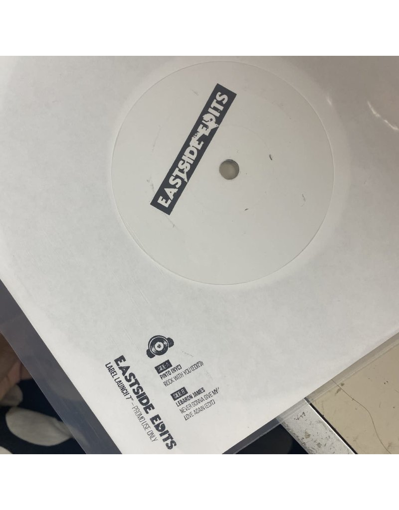 """LeBaron James / Pinto NYC - EastSide Edits (Never Gonna Give My Love Again Edit / Rock With You Edit )001 7"""" (2021)"""
