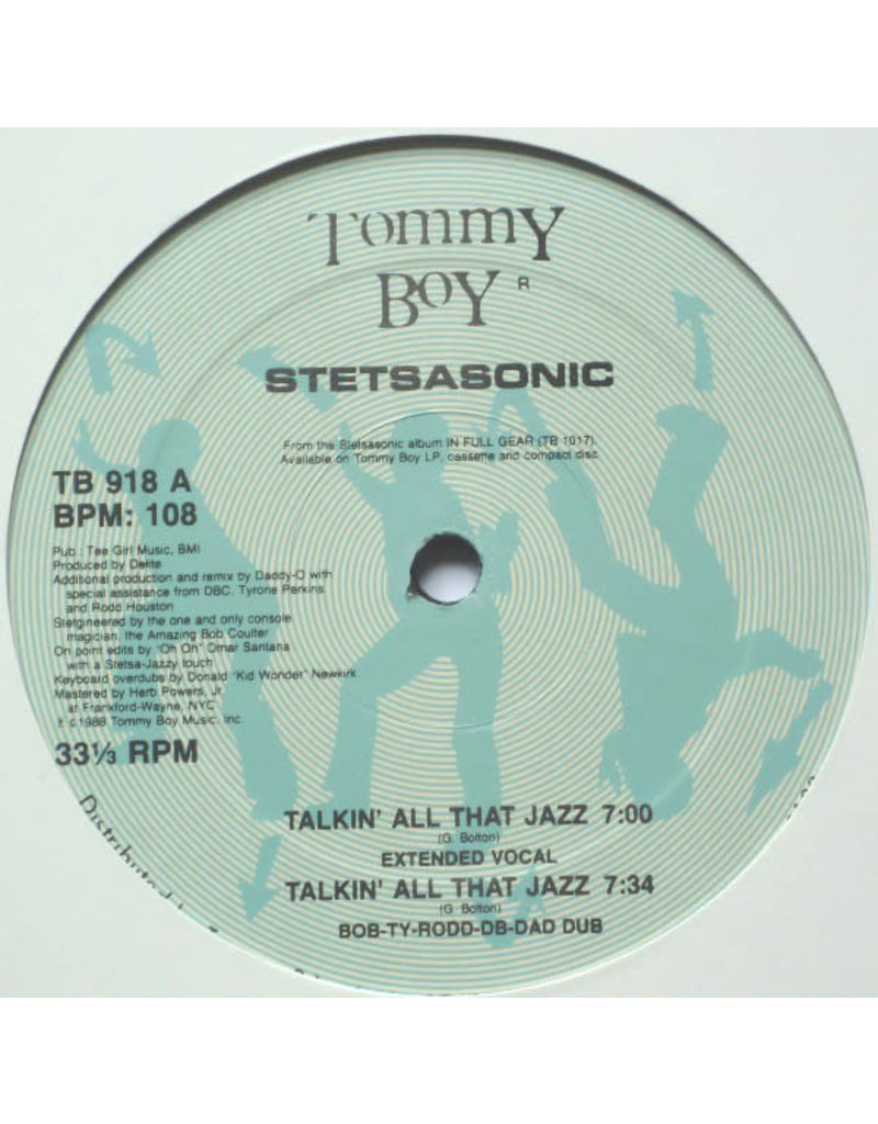 "(VINTAGE) Stetsasonic - Talkin' All That Jazz 12"" [VG] (Unknown Year Reissue, US)"