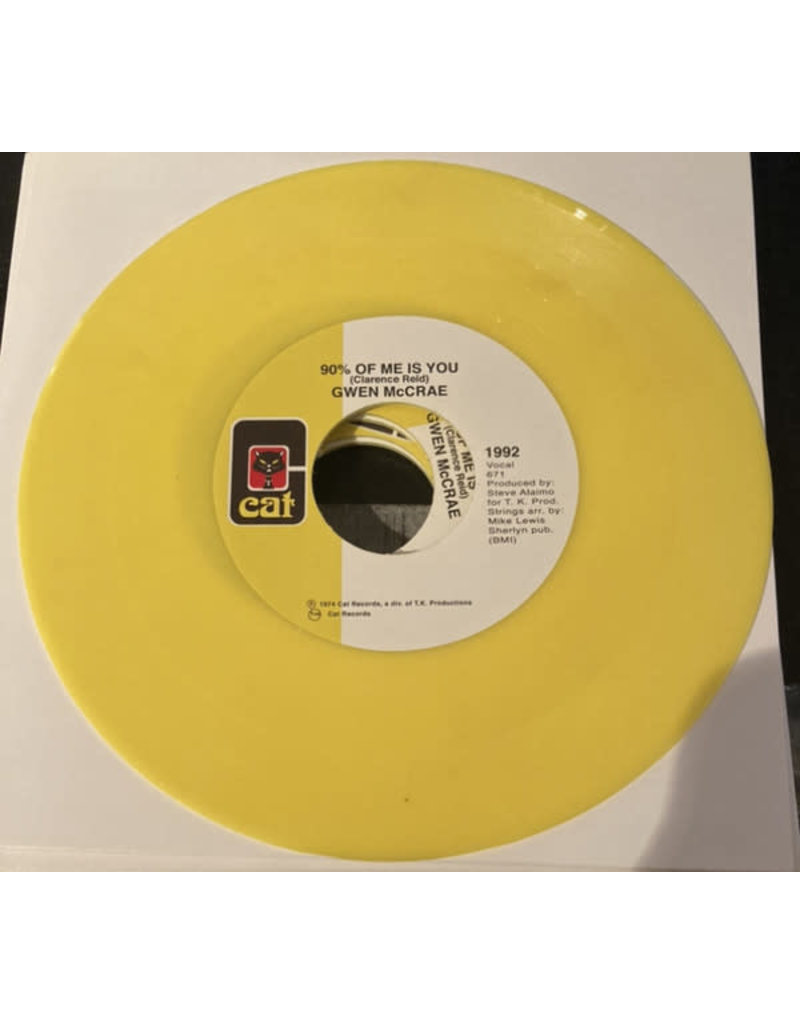 """Gwen McCrae – It's Worth The Hurt / 90% Of Me Is You (Yellow Vinyl) 7"""""""