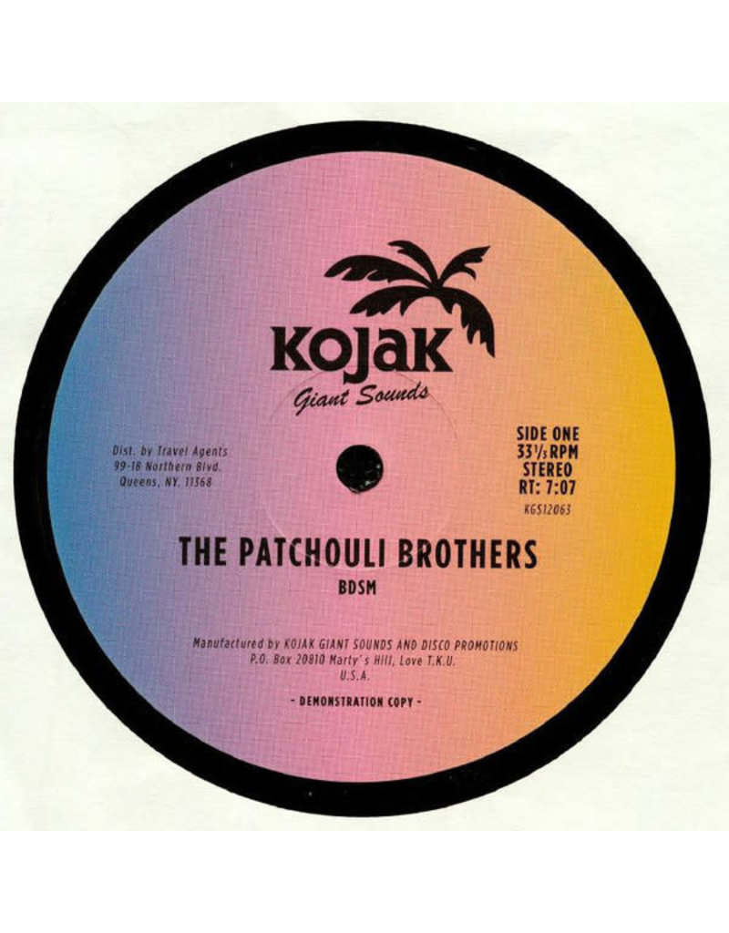 """The Patchouli Brothers – BDSM / Get A Chance 12"""""""