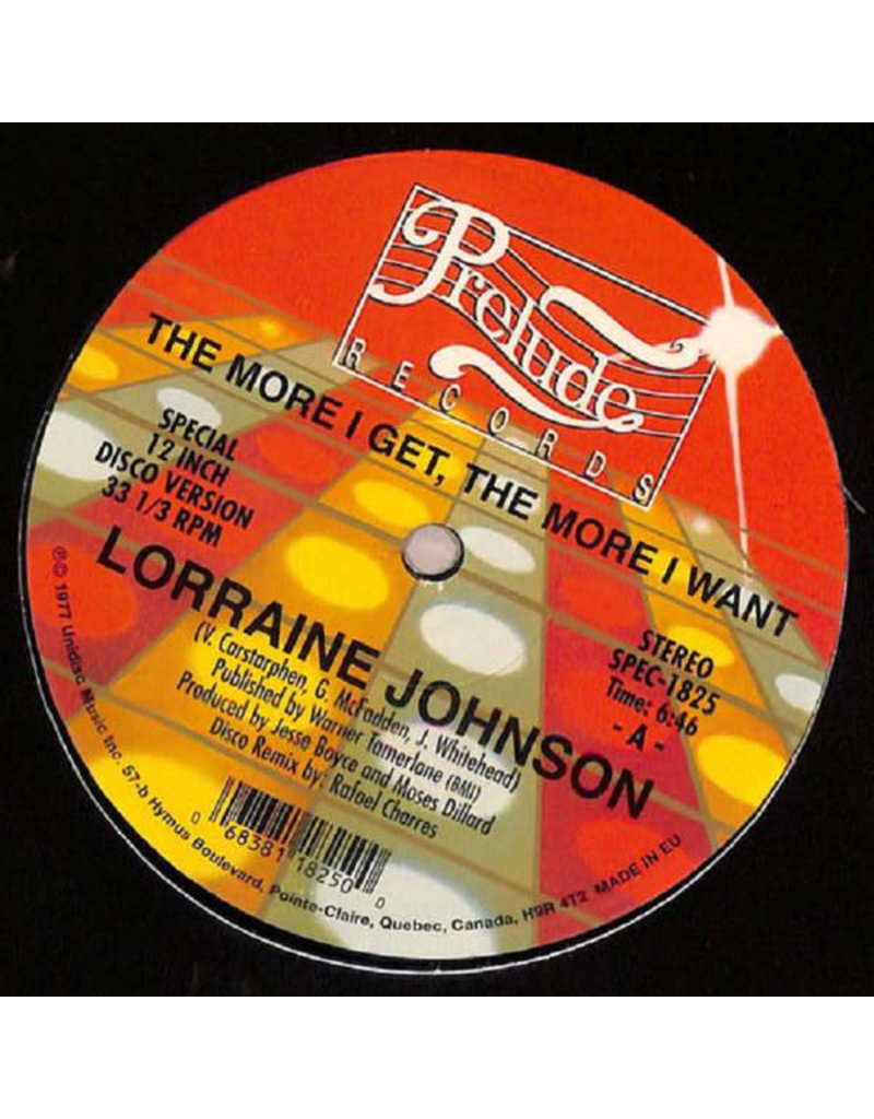 """Lorraine Johnson – The More I Get The More I Want 12"""""""
