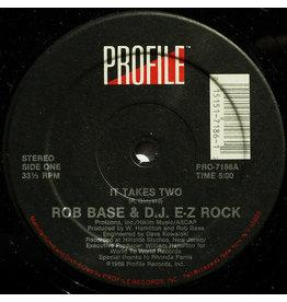 """(VINTAGE) Rob Base & D.J. E-Z Rock - It Takes Two 12"""" [Disc:VG+](1988,US), w/ Hype Sticker"""