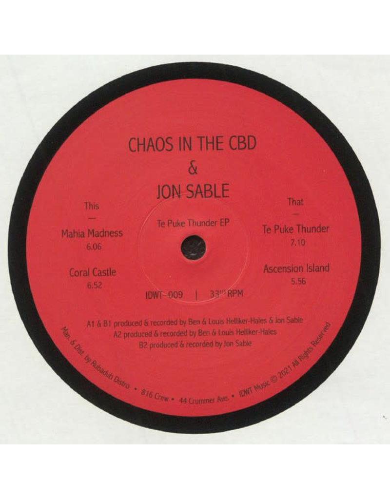 "Chaos In The CBD & Jon Sable – Te Puke Thunder EP 12"""