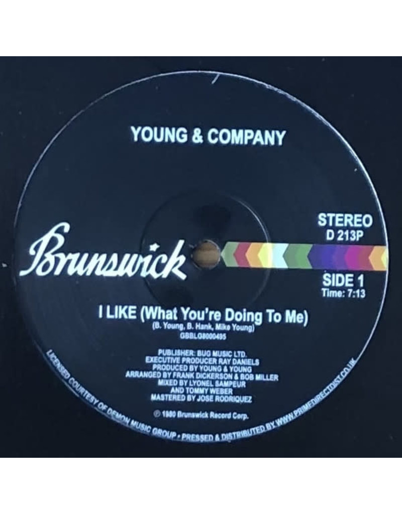 """Young & Company - I Like (What You're Doing To Me) 12"""" (2021)"""
