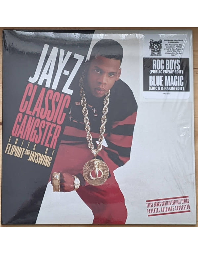 "Jay-Z Classic Gangster Edits By Flipout & Jay Swing - ROC Boys (Public Enemy Edit) / Blue Magic (Eric B & Rakim Edit) 7"" (2021)"