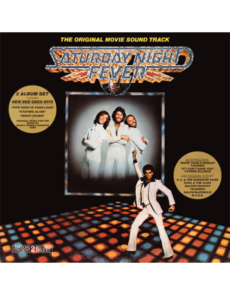 (VINTAGE) V/A - Saturday Night Fever OST [Cover:NM,InnerSleeve:VG+,Discs:NM] (1977,Canada), Compilation, Gatefold