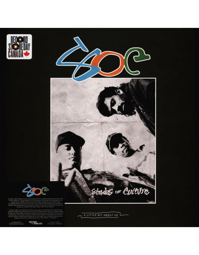 Shades Of Culture - A Little Bit About Us 2LP [RSD2021 July], Limited 500, Numbered