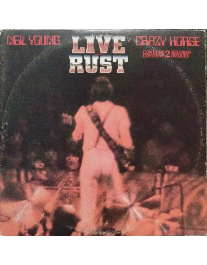 (VINTAGE) Neil Young & Crazy Horse - Live Rust 2LP [Cover:VG+,InnerSleeve:VG,Disc:VG](1979,Canada)