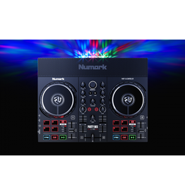 Numark Party Mix Live DJ Controller with Built-In Light Show and Speakers with Mixer and Audio Interface + Serato DJ Lite